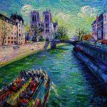 I-Love-Paris-in-the-springtime-50x50-huile-sur-toile