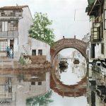Suzhou-40x50-Aquarelle