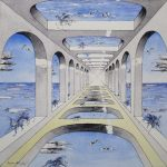 Miroir-sans-fin-50x50-Aquarelle