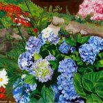 Jardin d'Hortense 82x65 - Huile sur toile