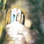 Akko-Frontière-Liban-1-92x73-aquarelle