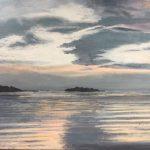 Nuages sur la rade de brest - 48x65 - Huile sur toile